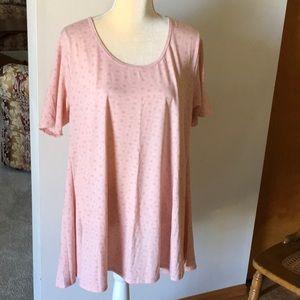 LuLaRoe pink tunic